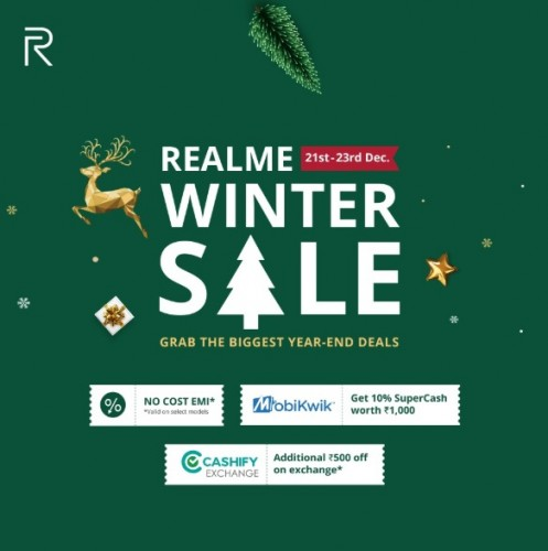 Realme announces Winter Sale with discounts of up to INR2,000 on select smartphones