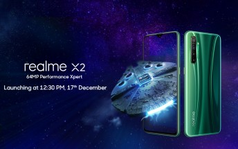 Realme X2 coming to India on December 17