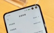 Redmi K30 actually has two punch holes on its display