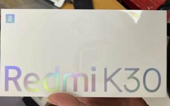 Live images of Redmi K30 retail box leak, hybrid SIM slot spotted
