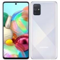 Samsung Galaxy A71 in Prism Crush Silver color
