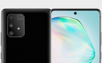 Samsung Galaxy A91 renders leak showing hole-punch selfie camera like the Note10