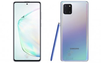 Renders of the Galaxy Note10 Lite reveal a flat display