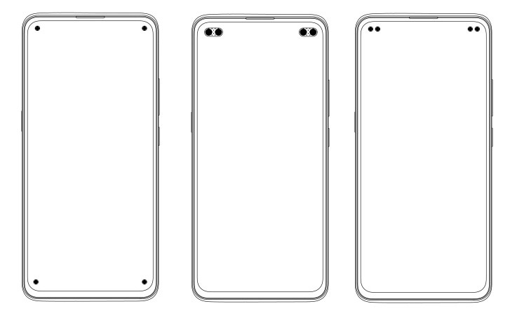 Vivo patents several quad punch-hole smartphone designs