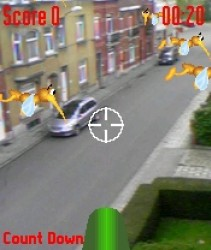 "Mozzies was an AR game for the Siemens SX1 <a href=""https://realitevirtuelleetaugmente.wordpress.com/2015/05/23/un-peu-dhistoire/"" target=""_blank"" rel=""noopener noreferrer"">image credit</a>"