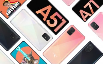 Samsung Galaxy A51 and A71 Indian prices leak