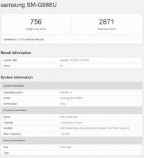 US versions: Galaxy S20 Ultra