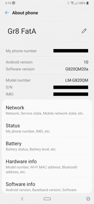 Android 10 update for unlocked LG G8 ThinQ in the US