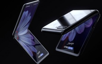 Mockup renders of the Samsung Galaxy Z Flip look awesome