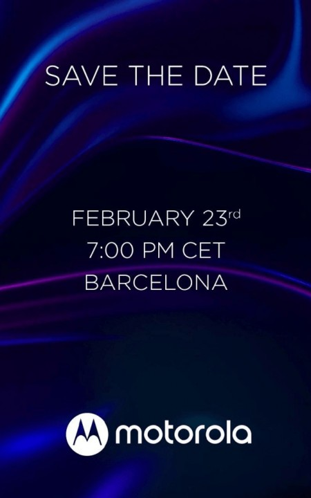 Motorola will host a launch event on February 23, flagship and three other phones incoming