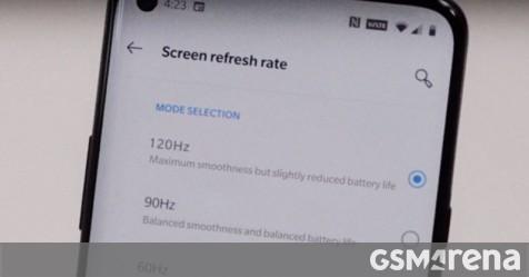 OnePlus 8 Pro 120Hz setting screen leaks with punch-hole selfie camera - GSMArena.com news - GSMArena.com