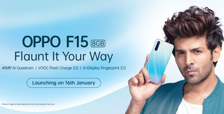 Oppo F15 coming on January 16, key specs revealed