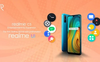Realme C3 will be the first smartphone to run Realme UI out of the box