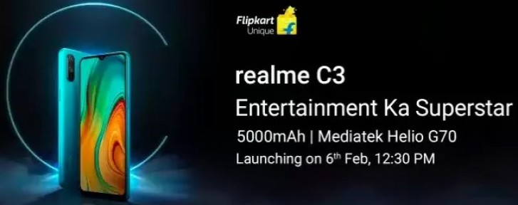 Realme C3 specs revealed by Flipkart ahead of launch