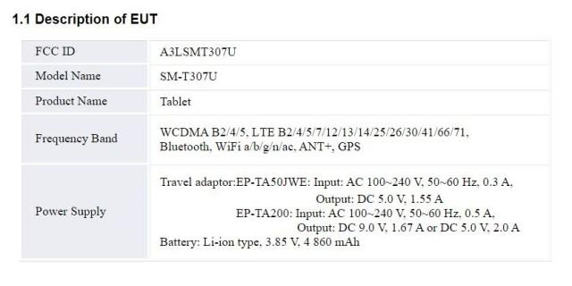 Samsung Galaxy Tab A4S battery details
