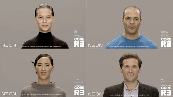 Samsung announces Project NEON, realistic digital humanoid avatars
