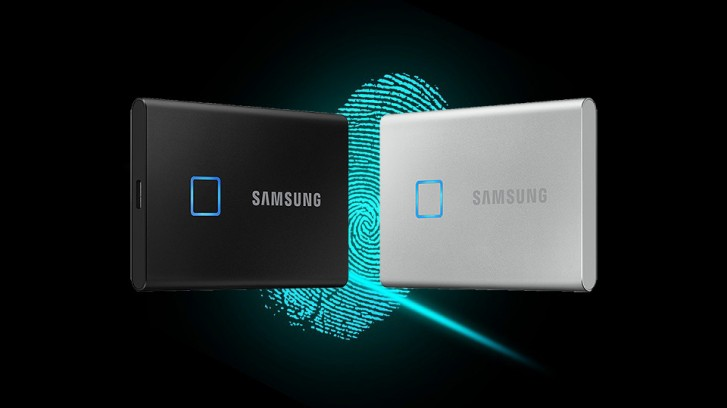 Samsung made a fingerprint-secured portable SSD
