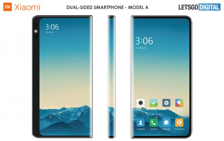 شیائومی تلفن های هوشمند دو طرفه را با نمایشگرهای پیچیده ثبت می کند