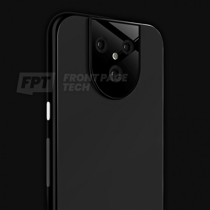 Alleged render of the Google Pixel 5 XL leaks with a unique triple-camera setup
