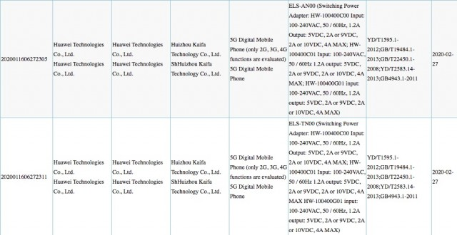 Huawei P40 Pro listings