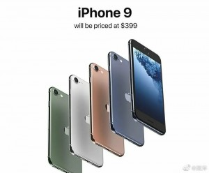 A render of the iPhone 9 in different colors