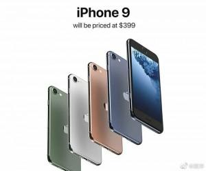 Render iPhone 9 dalam berbagai warna
