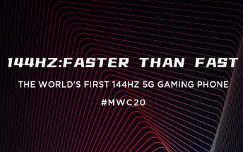 nubia Red Magic 5G will be unveiled at MWC with a 144Hz display