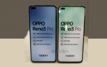 Oppo Reno3 Pro dummy unit reveals key specs