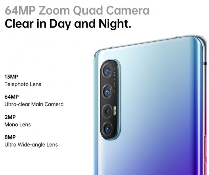 سيكون إعداد الكاميرا Oppo Reno3 Pro المفصل قبل الإطلاق ، ثلاثة خيارات للألوان