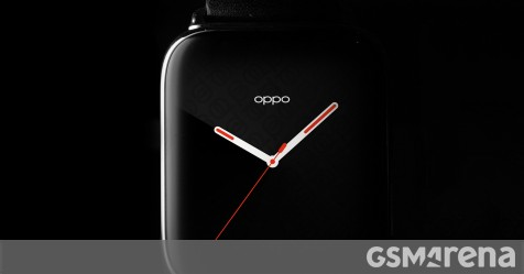 Second image of Oppo smartwatch shows the curved 3D glass - GSMArena.com news - GSMArena.com