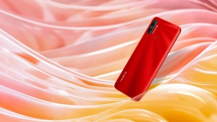 Realme C3 in Blazing Red  color