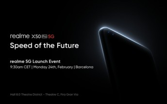 Realme's X50 Pro 5G announcement event scheduled for February 24