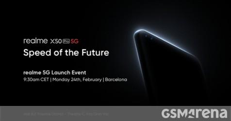 Realme's X50 Pro 5G announcement event scheduled for February 24 - GSMArena.com news - GSMArena.com