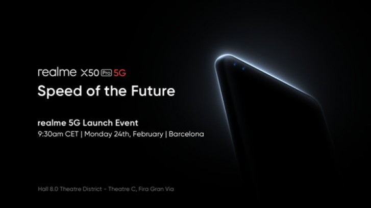 Realme's X50 5G announcement event scheduled for February 24