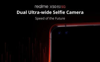 Realme X50 Pro 5G will have 32MP Dual ultrawide selfie camera, color options revealed