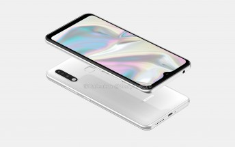 Samsung Galaxy A70e appears in first renders