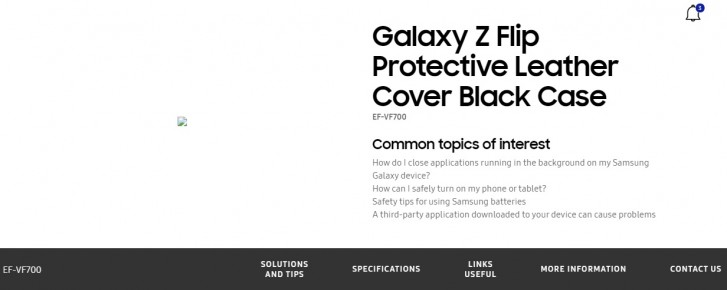 Samsung's official website confirms Galaxy Z Flip moniker