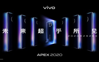 vivo APEX 2020 concept phone coming February 28