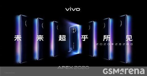 vivo APEX 2020 concept phone coming February 28 - GSMArena.com news - GSMArena.com