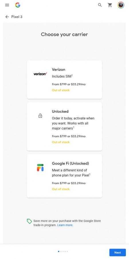 لم يعد موقع Google Store يبيع هواتف Pixel 3 أو 3 XL