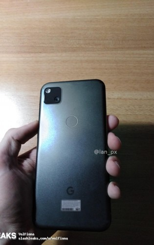 Leaked live images of Pixel 4a