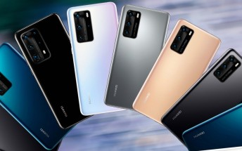Leaked official images shows entire Huawei P40 lineup, colors and all