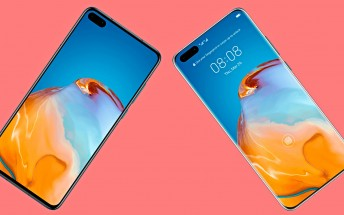 New leaked images show the front of the Huawei P40 and P40 Pro