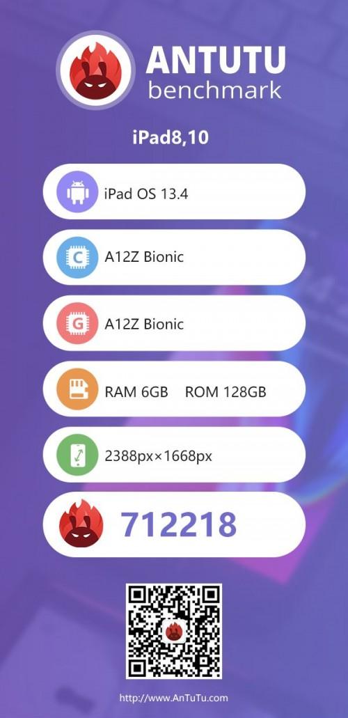 Apple iPad Pro 11 2020 shows 9% faster GPU on AnTuTu