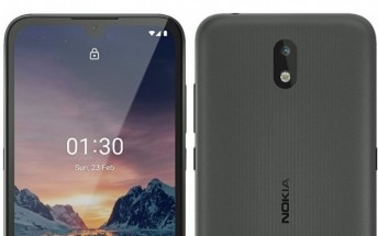 Nokia 1.3 leaked image reveals notched display and single rear camera