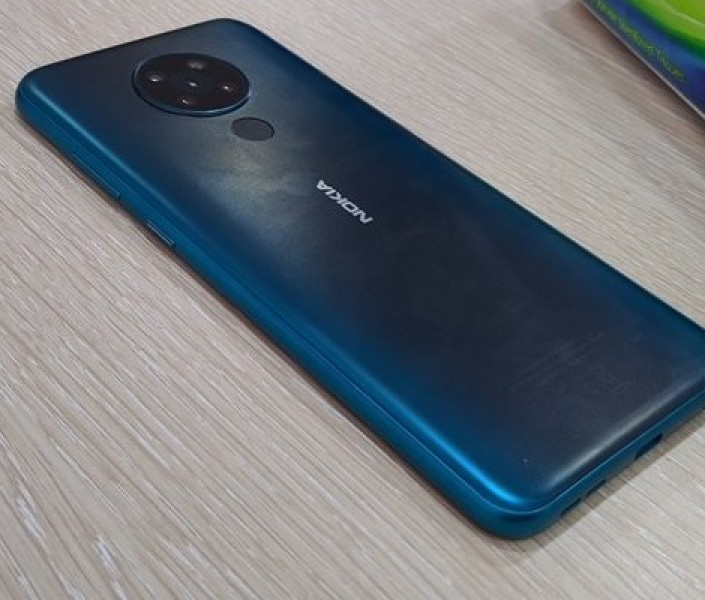Nokia 5.3 poses for the camera again with a quad camera