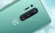OnePlus 8 Pro official images and specs leak, show off new mint color