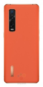 Oppo Find X2 Pro in Ceramic Black and orange leather