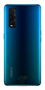 Oppo Find X2 in black and blue