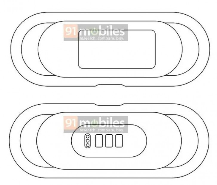 Oppo patent renders reveal new smart fitness tracker with display